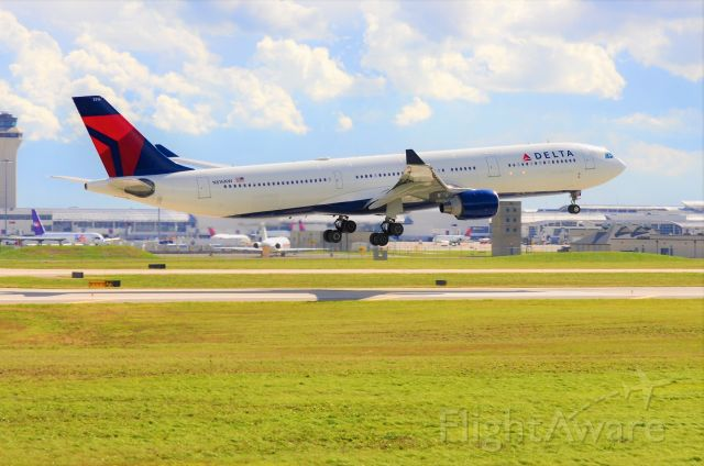 Airbus A330-300 (N816NW) - Delta 134 moments from touching down at DTW from Amsterdam.