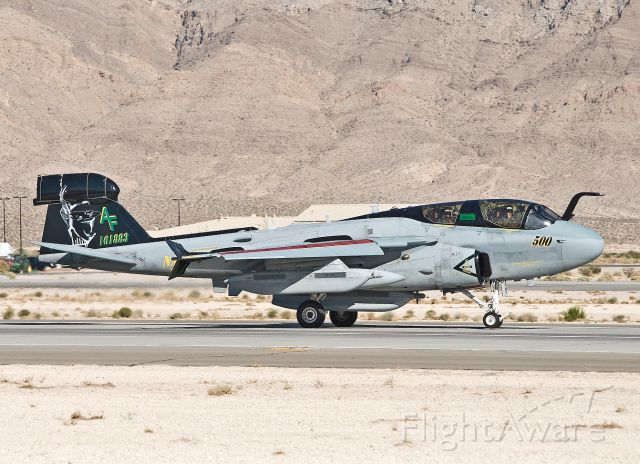 16-1883 — - EA-6B Prowler from VAQ-209 landing after a Red Flag mission July 2012.