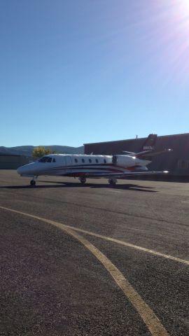 Cessna Citation Excel/XLS (N447MJ) - Cessna Citation Excel at Rangely Airport.