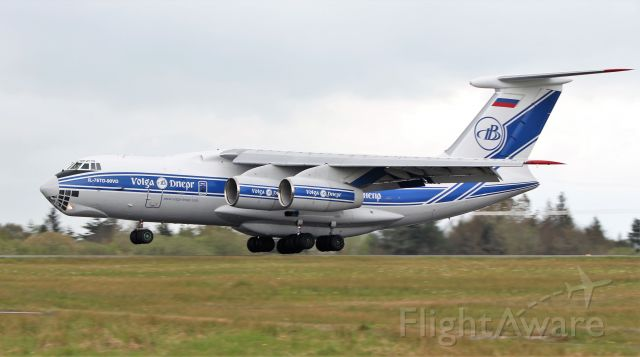Ilyushin Il-76 (RA-76503) - volga-dnepr il-76td-90vd ra-76503 landing at shannon from athens 19/4/20.