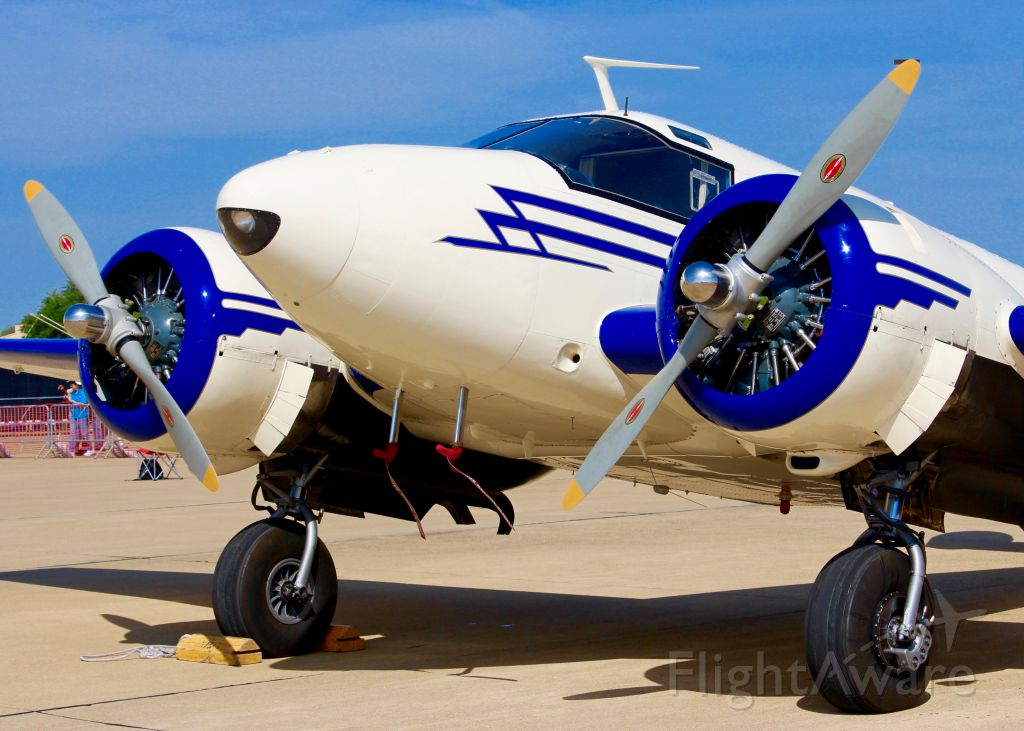 Beechcraft 18 (N41289) - At Barksdale Air Force Base. Beech D18S