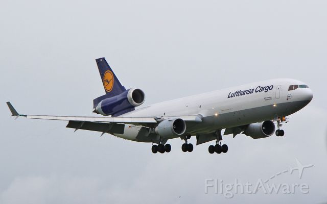 Boeing MD-11 (D-ALCM) - lufthansa cargo md-11f d-alcm about to land at shannon 10/7/17.
