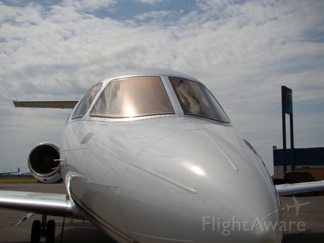 — — - Hawker 800xp with melted windshield.