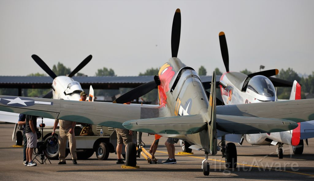 CURTISS Warhawk (N1195N) - Warbird Roundup 2018 at Warhawk Air Museum, Nampa, ID, 25 Aug 18