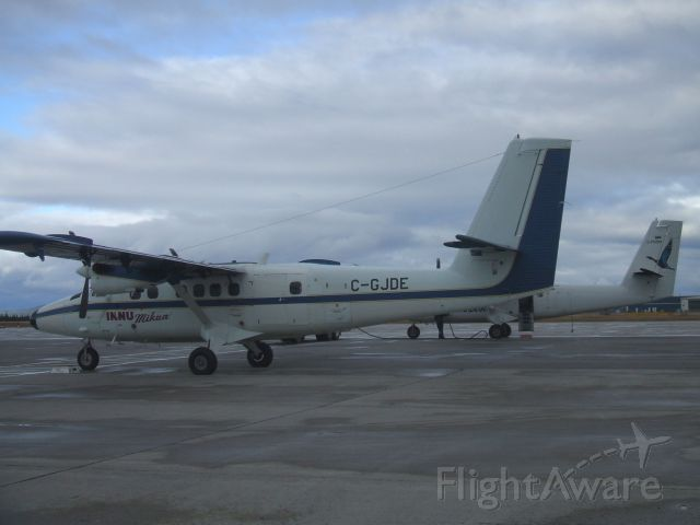 C-GJDE — - INNU Mikum and Air Labrador  Twin otters  parked side by side at Goose Airport NL.      Oct 17/08