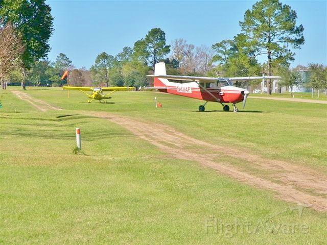 Cessna Skyhawk (N4114F) - N5859Z in the background at Lake Water Wheel Airport, Shepherd, Texas