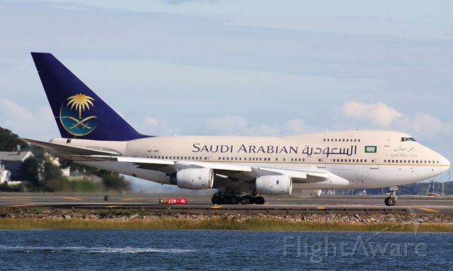 BOEING 747SP (HZ-AIF) - Saudi B747SP arrival to Logan on 09/18/11.