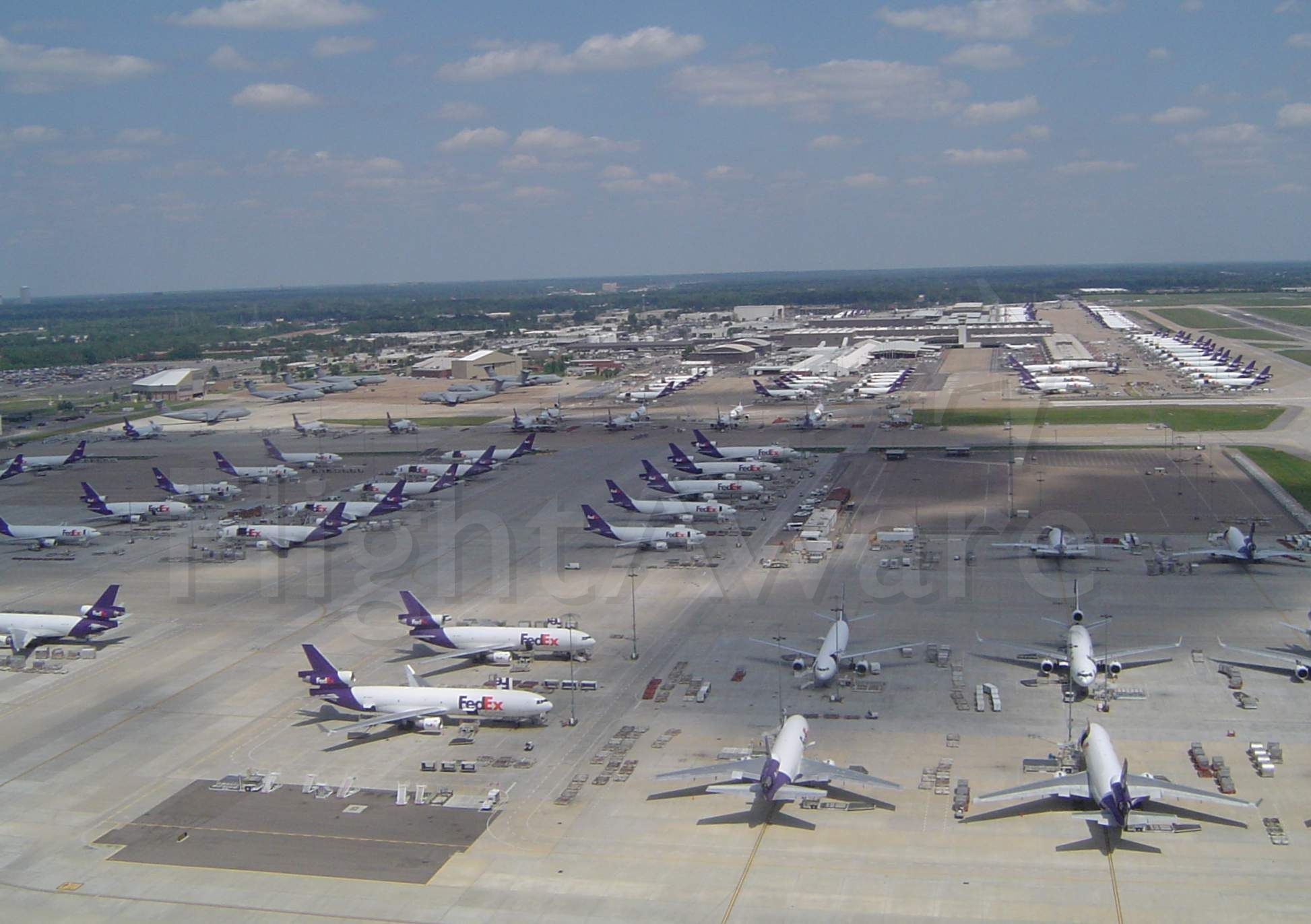 — — - A overhead view of the Awesome FedEx ramps at Memphis TN 2008 ....Photo by Martin Dixon