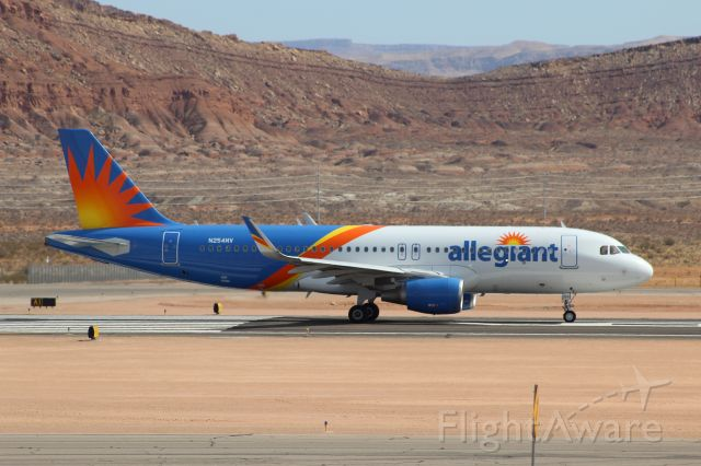 Airbus A320 (N254NV) - Dixie State football charter departing KSGU to play New Mexico State in El Paso (KELP) 03/06/2021