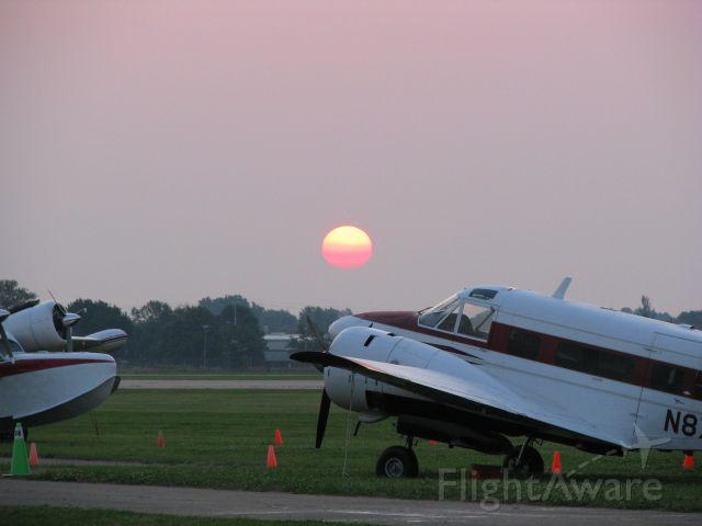 Beechcraft 18 (N87711) - Morning at AirVenture 2008