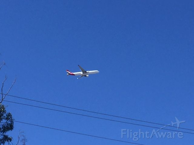 Airbus A330-300 (VH-EBN) - Qantas VH-EBN former rego of there 747-238 aircraft leaving YBBN/BNE 27th July 2017 FL25,000ft just over Bulimba area on flight path approach runway 19