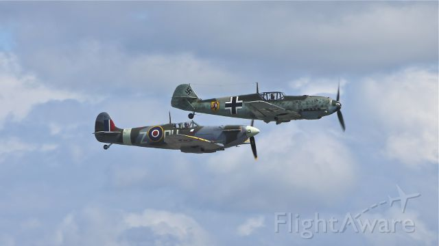 SUPERMARINE Spitfire (N614VC) - Once enemies.....Flying Heritage Collection