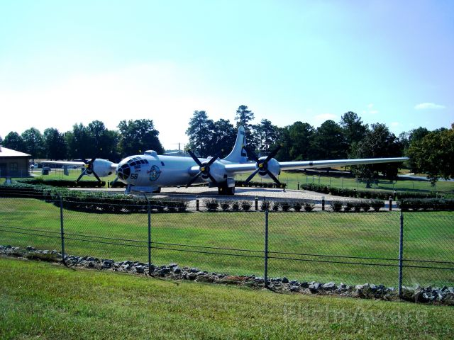 Boeing B-29 Superfortress (AALF58) - This Boeing B-29 close to the gate in Dubbins Air Base