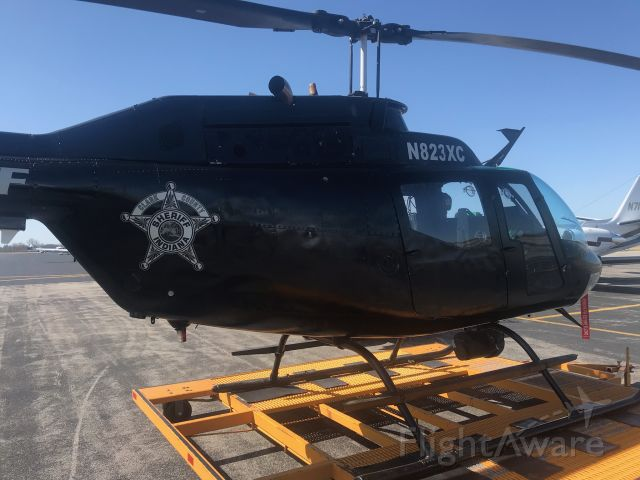 N823XC — - 3/20/21 after getting worked on Clark county IN Sheriff Dept's bell oh-58 awaits the pilot to fly it back to KJVY where it is based