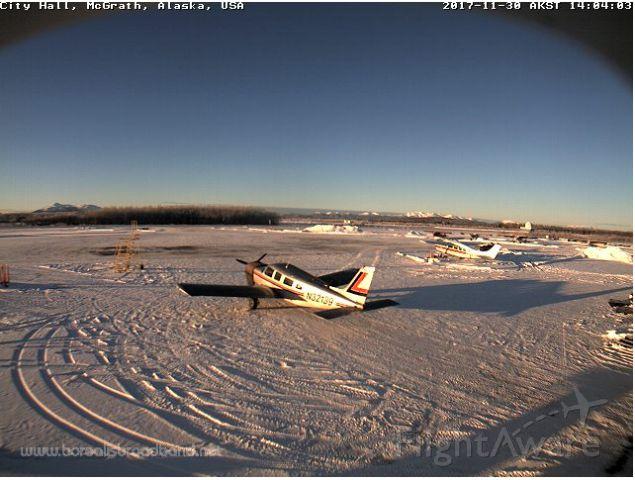 Piper Saratoga (N32139) - Watching the Borealis Broadband webcam of the McGrath Airport