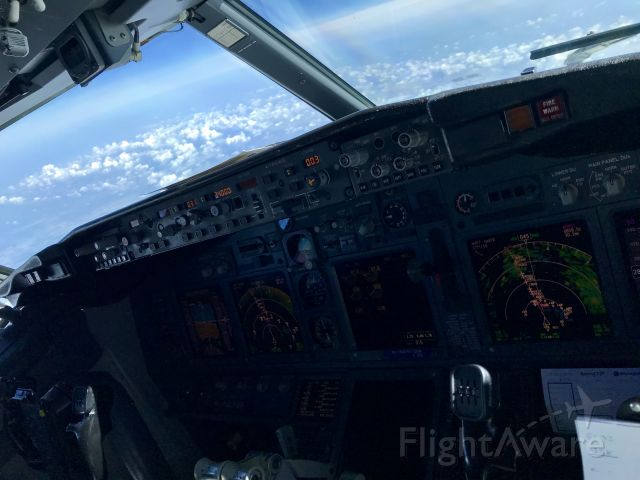 Boeing 737-800 (TRA5132) - BCN-AMS somewhere over France