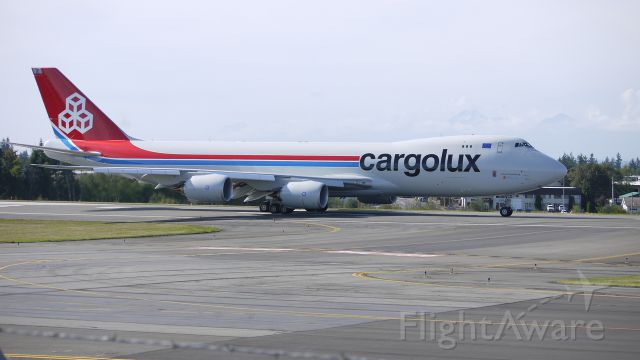 BOEING 747-8 (LX-VCD) - CLX789 - The first B747-8F to be delivered begins it