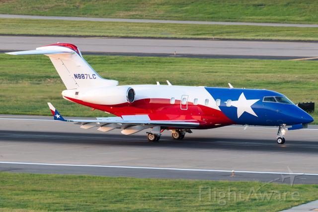 Bombardier Challenger 300 (N887LC) - A very loud and proud Challenger! No mistaking where this owner hails from.