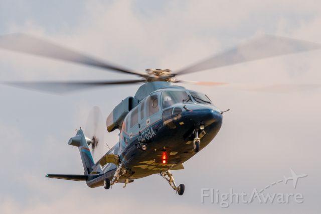 Sikorsky S-76 (N176BA) - N176BA landing after a scene flight<br />Canon 6DmkII 70-200 f/4