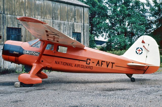 G-AFVT — - STINSON SR-10J RELIANT - REG : G-AFVT (CN 5911) - BIGGIN HILL AIRPORT LONDON UK - EGKB 18/6/1968