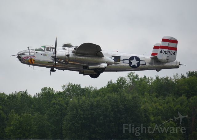 North American TB-25 Mitchell (43-0734) - Syracuse Airshow 2016  also see<br />https://www.delawareaviationmuseum.org/aircraft/b-25.html
