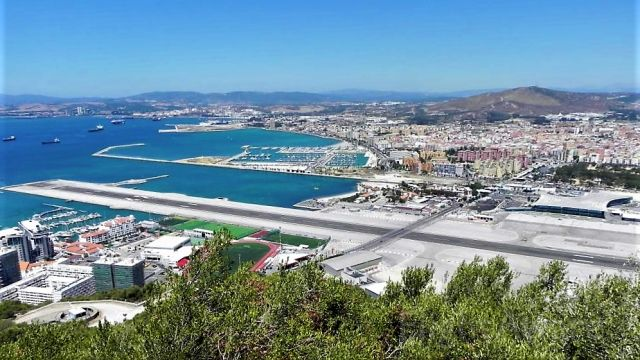 — — - A sunny Gibraltar in August 2014
