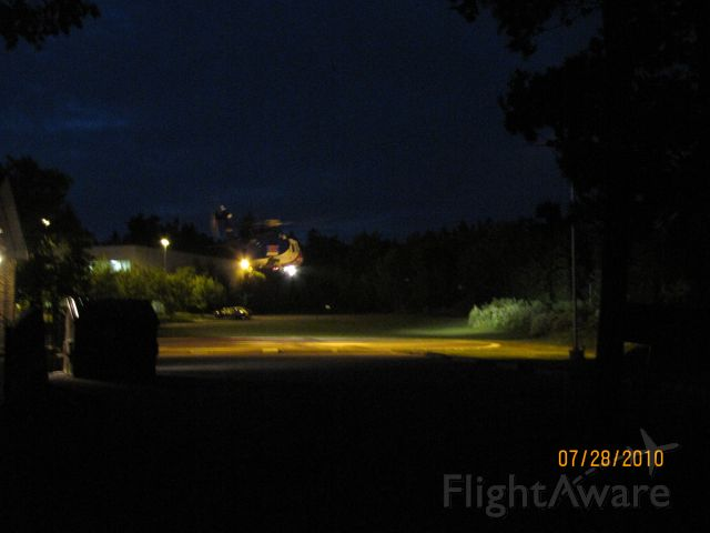 C-GIMN — - Life Flight lifting off pad at Hospital in Bridgewater Nova Scotia July 28,2010