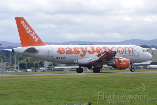 Airbus A319 (G-EZBH) - Taken from Almondbank on 17th August 2014.