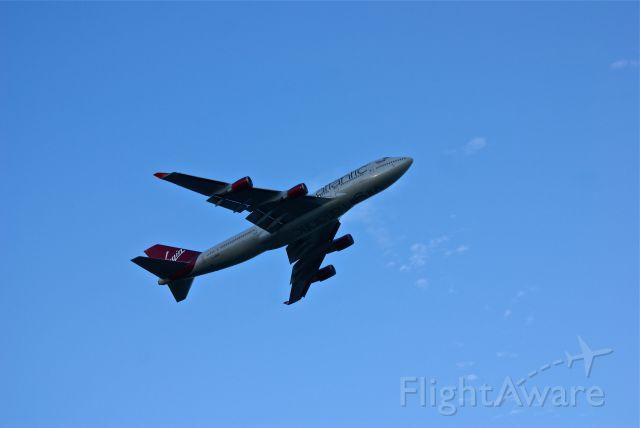 Boeing 747-400 (G-VROC) - Virgin Atlantic 744 departing Boston.