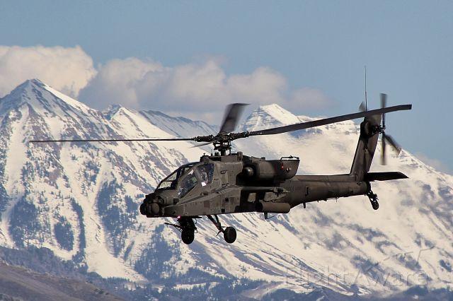 — — - Utah Air National Guard Boeing Apache AH-64 departs U42 (South Valley Regional Airport) Salt Lake City, Ut
