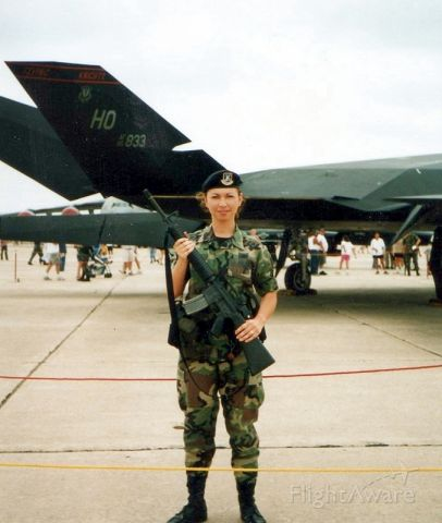 Lockheed Nighthawk — - scanned from a print, took it sometime around late 90s , maybe 2000 at Randolph AFB