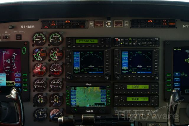 Cessna Conquest 2 (N11MM) - Avidyne glass panel in C441