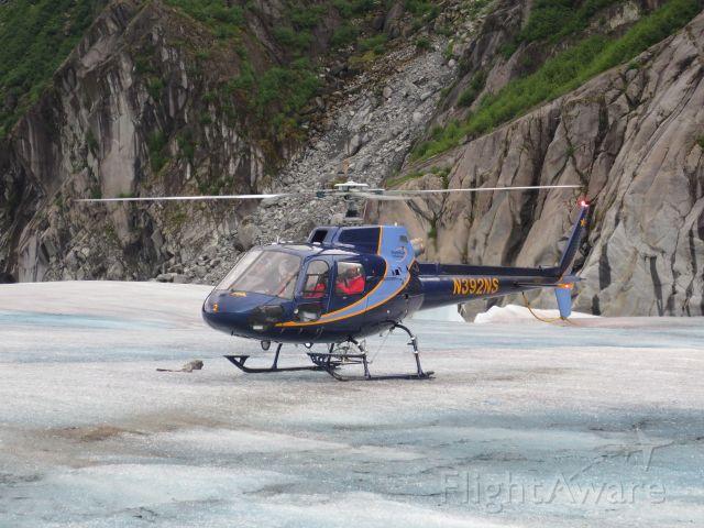 Eurocopter AS-350 AStar (N392NS) - Landing on Mendenhall Glacier