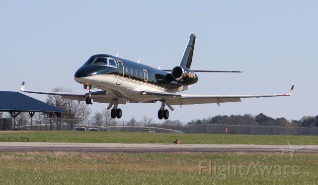 IAI Gulfstream G150 (C-GWPK) - A Fast Air IAI Gulfstream G150 about to touchdown at Pryor Field Regional Airport, Decatur, AL, March 14, 2018.