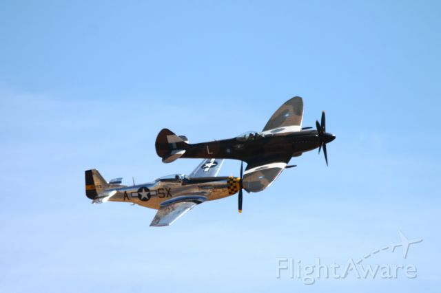 — — - California Capitol Airshow 9-08-2012<br />Spitfire and P-51
