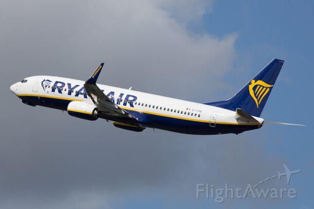 Boeing 737-800 (EI-FRN) - RYR555 back to Dublin