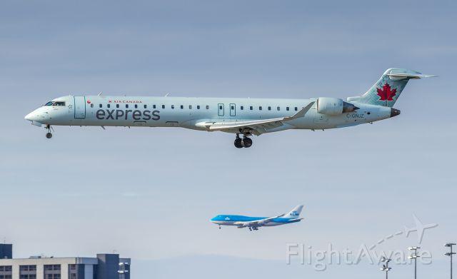 Canadair Regional Jet CRJ-700 (C-GNJZ) - KLM on the North parallel...