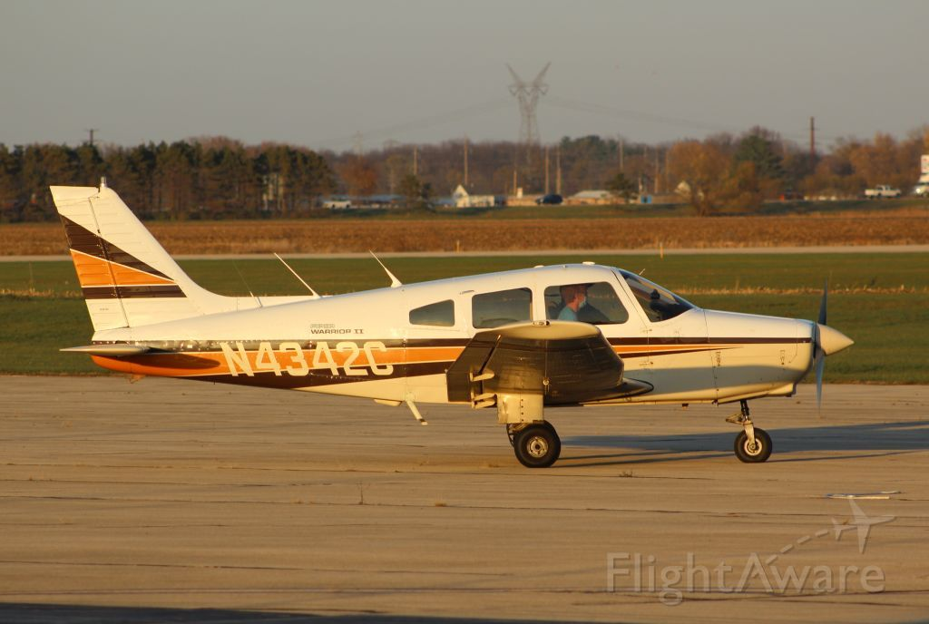 Piper Cherokee (N4342C) - A nice evening shot of N4342C at Sterling/Rock Falls, Il on 6 Nov 2020<br />Gary C. Orlando
