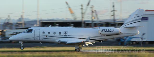 IAI Gulfstream G150 (N123QU) - N123QU Gulfstream G-150 cn 321 @ TJIG 11.28.2016