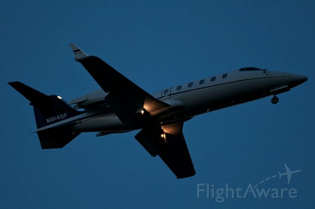 Learjet 60 (N814GF) - 12/9/12:  LearJet 60 on short final approach over Miami Lakes after sunset enroute to runway 9L at Opa-locka Executive Airport.