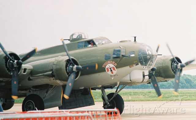 """Boeing B-17 Flying Fortress (N900RW) - Vega built Boeing B-17G, """"Thunderbird"""", N900RW, at the Barksdale AFB Airshow in May 2005."""