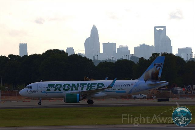 N362FR — - Wellington with the Charlotte Skyline in the Background