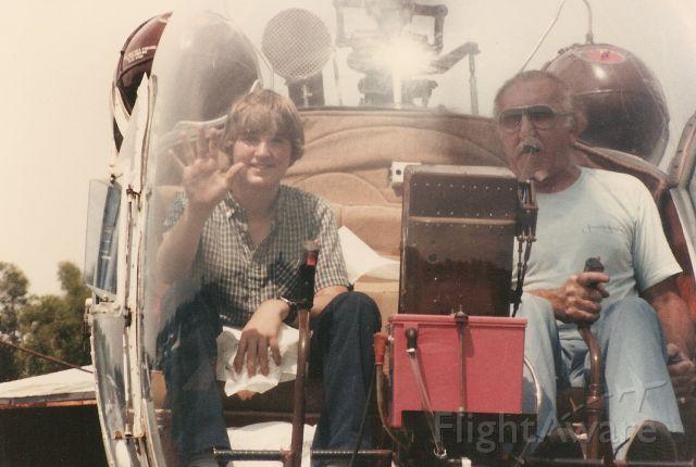 Piper Seneca (N4234Y) - Mr. Pete and I at Westwego Airport in Dennis