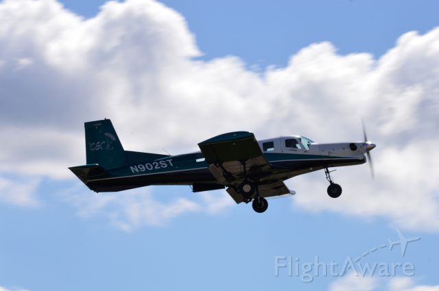 PACIFIC AEROSPACE 750XL (N902ST) - Pacific Northwest Skydiving's new jump plane (and probably the only one of it's kind in the region!), the PAC P-750 XSTOL airborne off 32 with a load of jumpers.