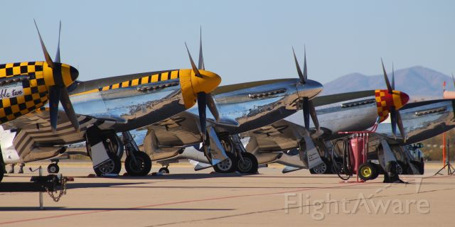 — — - Multiple P-51s on the tarmac at the 2018 Heritage Flight Conference at Davis-Monthan AFB.