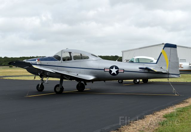 North American Navion (N4394K) - On the flight line at KLZZ Lampasas, Texas