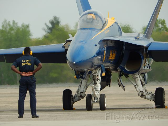McDonnell Douglas FA-18 Hornet — - Blue Angels at the 2015 greater New England Air Show!