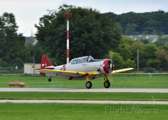 North American T-6 Texan (N224X) - Commemorative Air Force North American SNJ-4 N224X landing in Ann Arbor