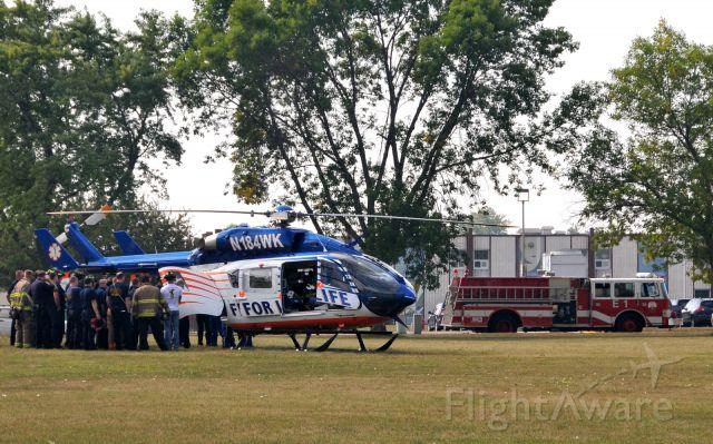 KAWASAKI EC-145 (N184WK) - Landed at Cudahy Park around 10:40 on 09132011 for joint training involving Cudahy, South Milwaukee and St. Francis