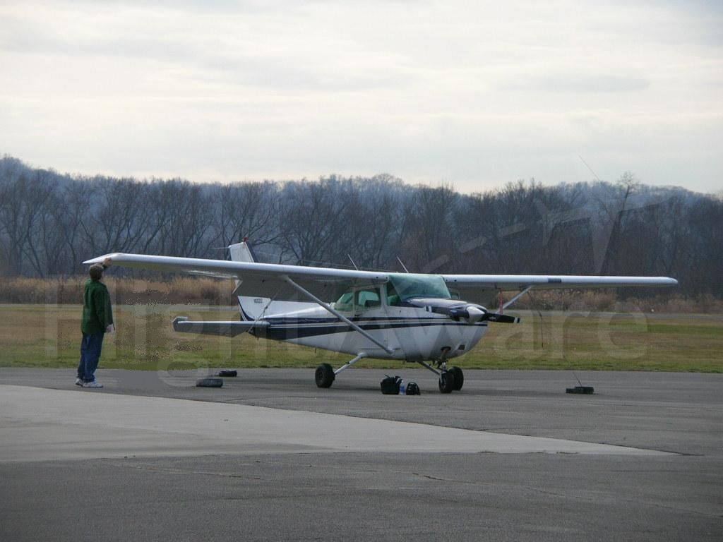 Cessna Skyhawk (N55212) - N55212 being preflighted on the ramp at Lawrence County Airport, South Point, Ohio.